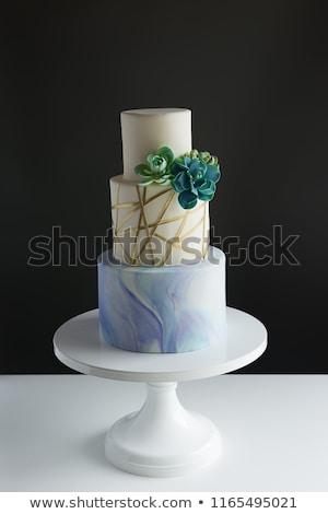 Moderne cake stand 3d illustration geïsoleerd witte Stockfoto © montego
