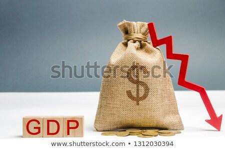 Finansowych strata działalności spadać giełdzie crash Zdjęcia stock © Lightsource