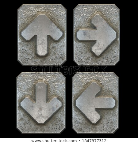 Set of metalic arrows Stock photo © orson