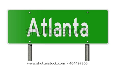 Atlanta wegteken hoog grafische wolk Stockfoto © kbuntu