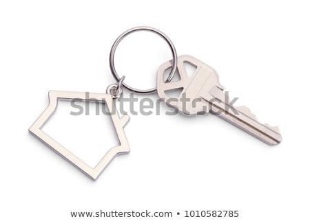 domu · klucze · biały · dom · tle · bezpieczeństwa · pierścień - zdjęcia stock © m_pavlov