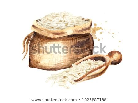 marrom · orgânico · arroz · asiático - foto stock © sielemann