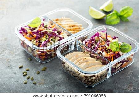 refeição · ver · bom · alimentos · frescos · branco - foto stock © ersler