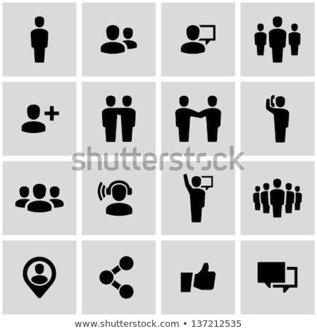 ビジネス · 抽象的な · 人 · チーム · 群衆 · 孤立した - ストックフォト © pathakdesigner