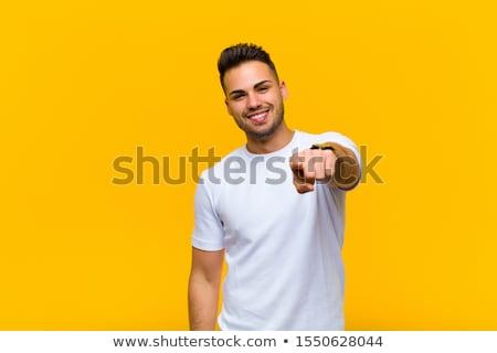 Hombre guapo aislado blanco feliz moda hombres Foto stock © stockyimages
