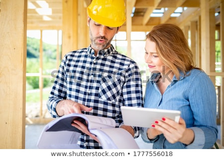 An architect and her foreman. Stock photo © photography33
