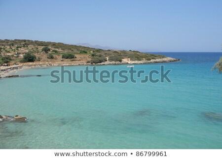 panoramic view over Mirabello Bay Stock photo © prill