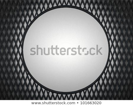 Leather Background Grey Circle And Meshy Pattern Stok fotoğraf © Arsgera