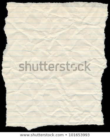 Old vintage yellowing torn lined paper isolated on black. Stock photo © latent