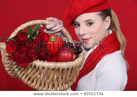 Blond woman with mischievous gaze Stock photo © photography33