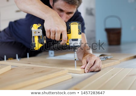 Drill Cordless screwdriver. Stock photo © Supertrooper