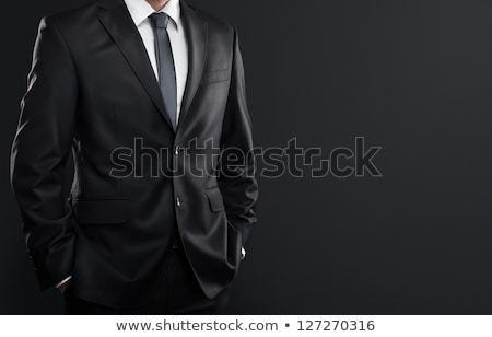 Mens black necktie Stock photo © shutswis