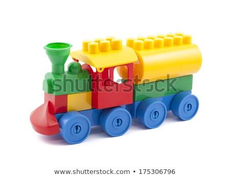 kleurrijk · speelgoed · trein · geïsoleerd · witte - stockfoto © photography33