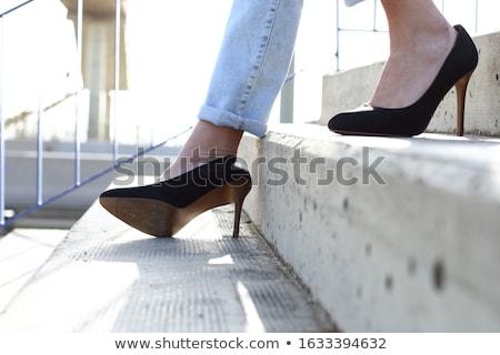 Tinédzserek lefelé lépcsősor iskola oktatás lányok Stock fotó © photography33