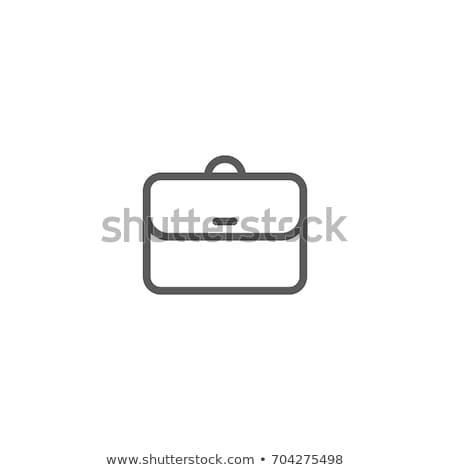 Vector icon brief case Stock photo © zzve
