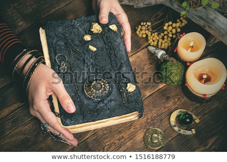 Woman reading recipe book Stock photo © studiofi