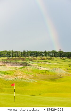 Foto d'archivio: Rainbow · campo · da · golf · Scozia · golf · panorama · bag