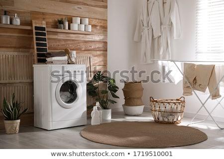 Laundry drying on window Stock photo © dinozzaver