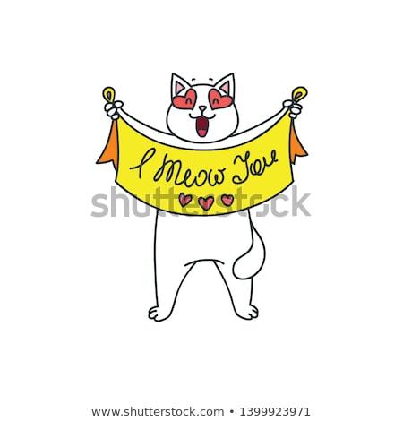 kitty wishes you a nice day Stock photo © balasoiu