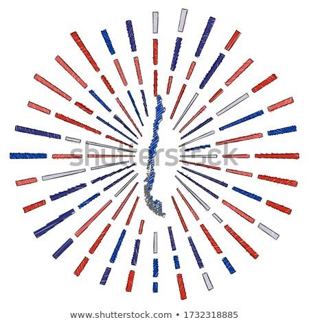 Zászló Chile kéz szín vidék stílus Stock fotó © claudiodivizia
