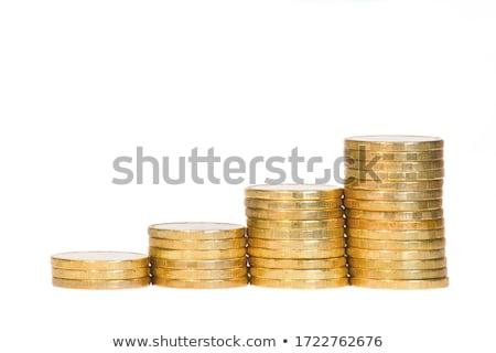 arany · oszlop · 3d · illusztráció · fehér · terv · fém - stock fotó © sqback