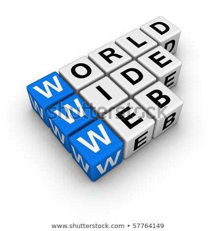 Blu cubo lettere seo scatole Foto d'archivio © marinini