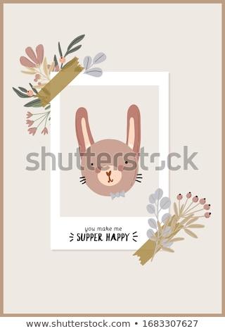 gyerekes · üdvözlőlap · zsiráf · születésnap · háttér · fiú - stock fotó © balasoiu