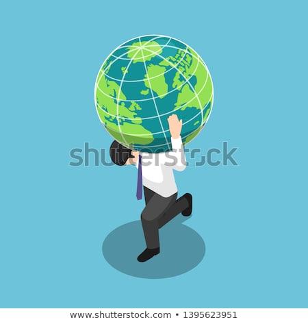 3d · mensen · aarde · wereldbol · grunge · gelukkig - stockfoto © kirill_m