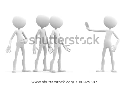 3d character holding up his hand in a stop sign Stock photo © Kirill_M