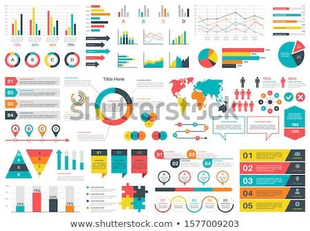 Infografiki statystyczny elementy ikona kobieta człowiek Zdjęcia stock © Winner