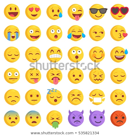 Heart Faces Happy Emoticons - Wanderful Stock photo © nazlisart