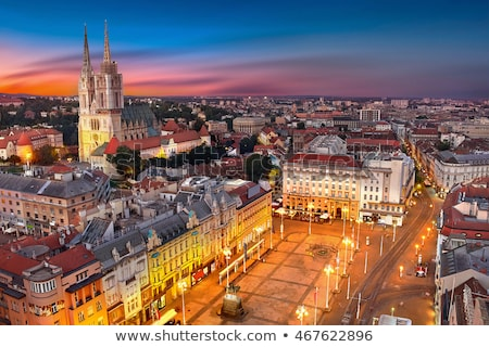 Cityscape of Zagreb Stock photo © smuki