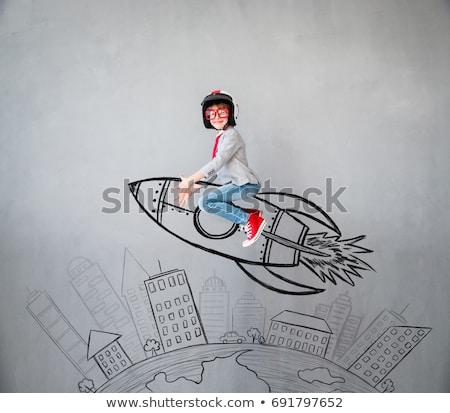 pintura · negocios · idea · empresario · pared · grande - foto stock © hasloo