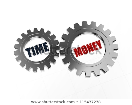 time is money in silver grey gears Stock photo © marinini