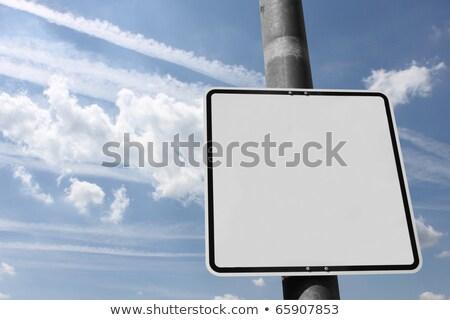 Sokak işareti örnek toprak sanayi gaz kirlenme Stok fotoğraf © burakowski