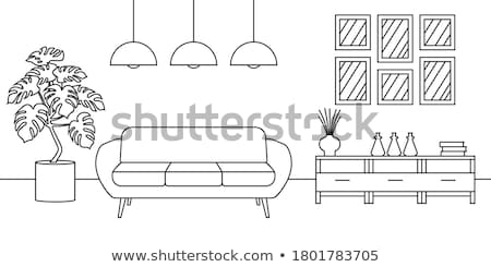 couch and lamp stock photo © elenaphoto