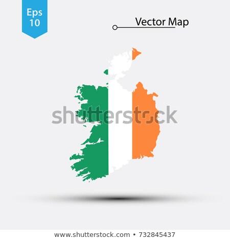 Ireland Small Flag on a Map Background. Stock photo © tashatuvango