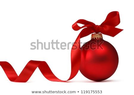 Single Red Christmas Ornament Stock photo © LAMeeks