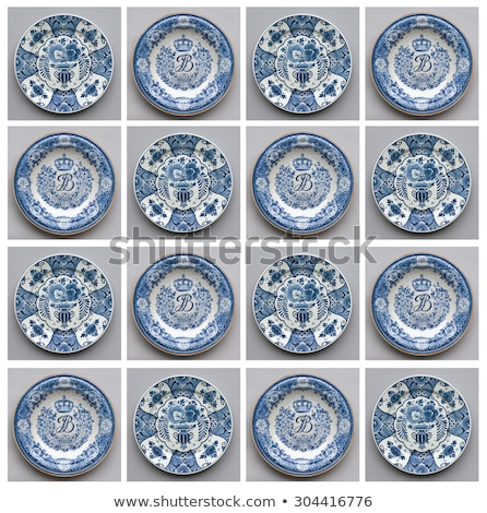 Antique Dutch plate in Delfts blue, Holland Stock photo © michaklootwijk