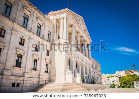Parlamento ciudad ley arquitectura casas blanco Foto stock © elxeneize