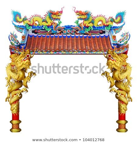 Religion Statue chinesisch Tempel isoliert weiß Stock foto © Witthaya