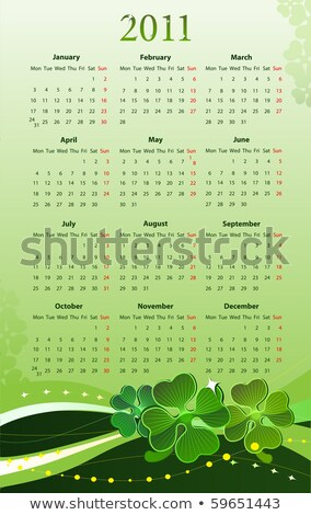 vector illustration of 2011 calendar for st patrick stock photo © elisanth