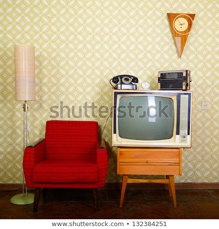 Vintage telephone in the living room Stock photo © stokkete
