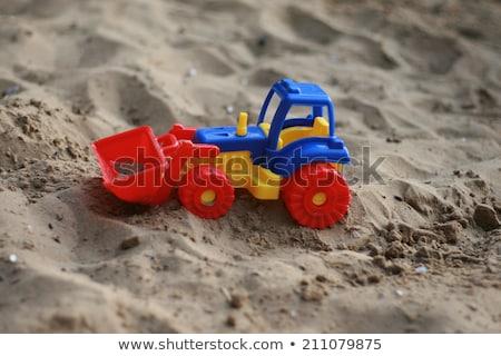 plastikowe · zabawki · spychacz · odizolowany · biały · ciężarówka - zdjęcia stock © gemenacom