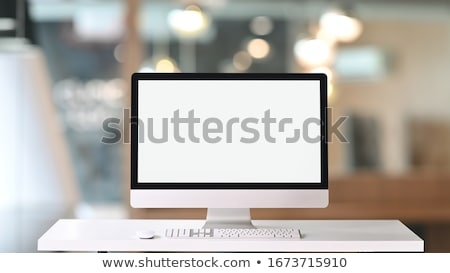 Contemporary desktop computer with blank screen Stock photo © paulfleet