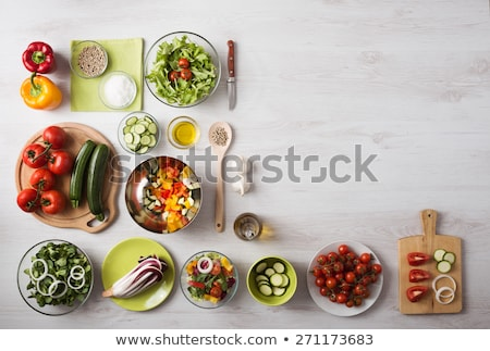 Organic salad vegetable prepare for cooking Stock photo © nalinratphi