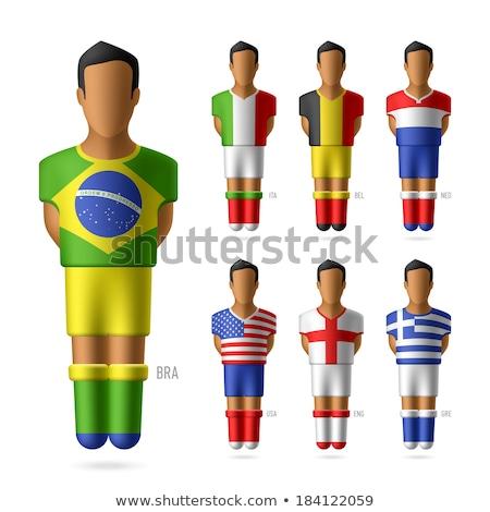 USA België miniatuur vlaggen geïsoleerd witte Stockfoto © tashatuvango