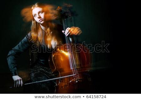 Female Musician Playing Violoncello Stock photo © courtyardpix
