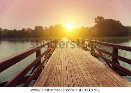 Morning sun at the bridge Stock photo © olandsfokus