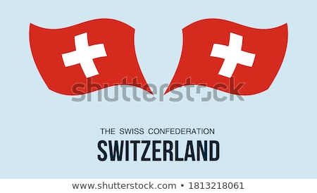 Map on flag button of Switzerland, Swiss Confederation Stock photo © Istanbul2009
